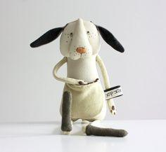 Puppy plush toy stuffed dog toy dog plushie in by Skripskrap