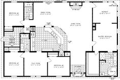 Floorplans for Manufactured Homes 2000 Square Feet & Up