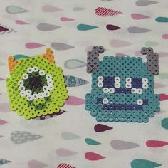 Mike and Sulley - Monsters, Inc. perler beads by soso_yulri