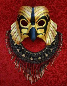New Traditional Horus Mask #2 by merimask.deviantart.com on @deviantART