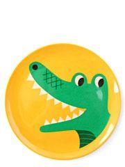 "Blå Gungan - webshop design och inredning - Tallrik Ingela P Arrhenius ""Krokodil"" Animal Plates, Retro Kids, Retro Illustration, Swedish Design, Teller, Kidsroom, Creative Kids, Kids Furniture, Gifts For Kids"