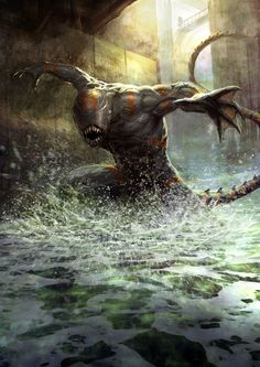 Let's dive into the beautiful art of Geoffroy Thoorens, who's recently done some concept art for Neil Blomkamp's Aliens project. Concept Art Alien, Monster Concept Art, Creature Concept Art, Fantasy Monster, Monster Art, Creature Design, Dark Fantasy Art, Fantasy Artwork, Dark Art