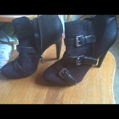 Booties Size 8 excellent shape never wore nwot Shoes Heeled Boots