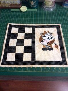 Individuales combinación de ajedrez con delicado bordado a mano