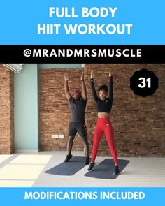 Full Body HIIT Workout Full Body HIIT Workout,Fitter Lower body HIIT exercise Related posts:Plan Modern Farmhouse with Private Master Suite Porch - Dream houseLooking for a new workout? Hiit Abs, Sixpack Workout, Full Body Hiit Workout, Hiit Workout At Home, Band Workout, Gym Workout Videos, Gym Workouts, Exercise Cardio, Fitness Exercises