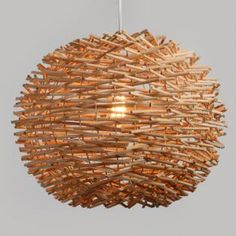Wicker Nest Pendant Shade