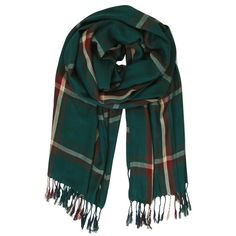 Humble Chic NY Perfect Plaid Scarf ($20) ❤ liked on Polyvore featuring accessories, scarves, green, cotton shawl, woven scarves, tartan scarves, cotton scarves and tartan plaid shawl