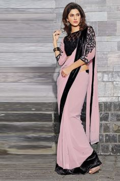 Designer Party Wear Saree With matching Blouse.