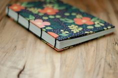 Handmade Writing Journal Coptic Stitch Notebook by PhillyStitchery Book Binding Methods, Notebooks, Journals, Paper Folding, Bookbinding, Leaves, Stitch, Writing, My Favorite Things