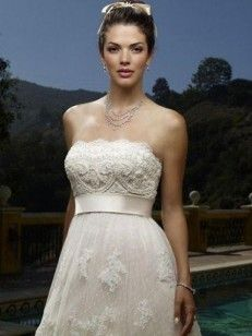 A-line/Princess Strapless Belt Sleeveless Court Train Lace Wedding Dresses