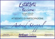 "Exhibition ""Vivere a colori"" and ""EstatArte"" in Italy - Cesenatico - Riccione summer 2016"