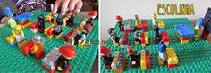 Ideia de brincadeira tema lego: escolinha