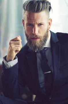 undercut beard hair combination