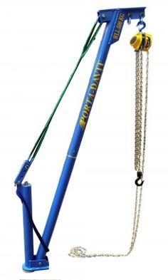 PORTA-DAVIT WLL 500KG with chain block aluminium jib crane