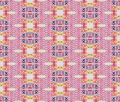 """patternbase: """" An embroidered geometric repeat print by Aisling Smyth. Follow her on Tumblr and Facebook """""""