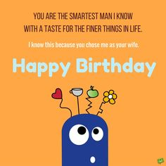 Birthday Quotes For Husband Beauteous Happy Birthday To My Husband  Wishesgreeting  ♥ Love Quotes