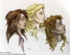 Piper McLean, Annabeth Chase, and Hazel Levesque.