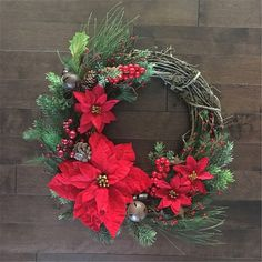 Christmas Wreath Decor Xmas Home Party Door Wall Garland Flower Ornaments Silver Christmas Decorations, Christmas Wreaths To Make, Christmas Door, Winter Wreaths, Christmas Quotes, Outdoor Christmas, Tree Decorations, Christmas Lights, Vintage Christmas