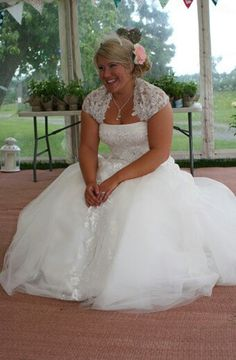 Me in my Benjamin Roberts Wedding Dress. What a fab day!