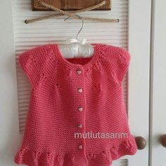 Embroidered Baby Vest Making Knitted Baby Cardigan, Baby Pullover, Cardigan Pattern, Baby Knitting Patterns, Baby Hats Knitting, Layette Pattern, Crochet Baby Dress Pattern, Evening Dress Patterns, Baby Dress Patterns