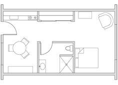 350 sq ft floorplan