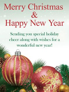 Send Free Beautiful Christmas Ornament Card to Loved Ones on Birthday & Greeting Cards by Davia. Merry Christmas Poems, Short Christmas Wishes, Holiday Quotes Christmas, Christmas Wishes Greetings, Christmas Wishes Quotes, Christmas Ships, Christmas Card Crafts, Christmas Blessings, Christmas Messages
