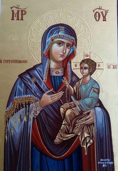 Byzantine Icons, Byzantine Art, Religious Images, Religious Art, Hail Mary, Catholic Art, Holy Family, Orthodox Icons, Aesthetic Art