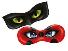 Máscaras Ladybug e Cat Noir Miraculous. As Aventuras de Ladybug - Regina Festas.