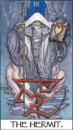 The Hermit - Mage : the Awakening tarot deck