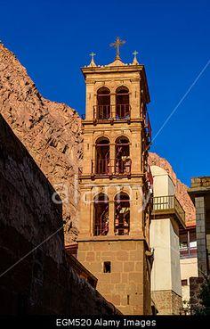 Bell tower inside St Catherine monastery in Sinai, Egypt Stock Photo