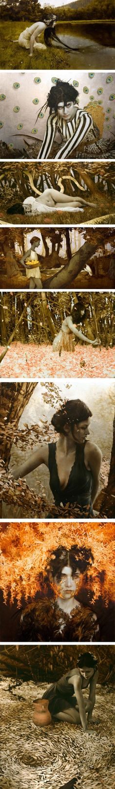 Spectacular art by ArtistBrad Kunkle New York based artist Brad Kunkle, who has a background applying metal leaf as a decorative artist when he was younger, incorporates gold and silver leaf directly into his oil paintings, utilizing the material both for its symbolic and physical and visual properties.
