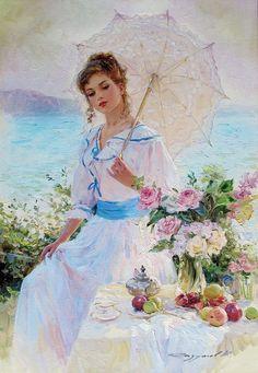 Young Lady , Early Morning Konstantin Razumov | Artwork I Love ...
