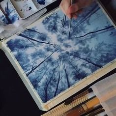 28 Ideas for painting watercolor trees forests Watercolor Illustration, Watercolor Paintings, Watercolors, Watercolor Trees, Tree Illustration, Landscape Illustration, Watercolor Video, Watercolor Tutorials, Watercolor Design