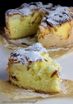 sponge cake with apples, grated with apples, fluffy sponge cake, sponge cake with fruit, hot on the sweet x Polish Desserts, Polish Recipes, Apple Cake Recipes, Baking Recipes, Pastry Cake, Cupcakes, Pumpkin Cheesecake, Sweet Cakes, Healthy Desserts
