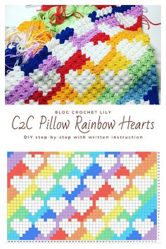 This pattern is for a Corner to Corner Pillow Case (or covering). Crochet C2c Pattern, Crochet Ripple, Baby Afghan Crochet, Manta Crochet, Crochet Pillow, Tapestry Crochet, Crochet Chart, Crochet Blanket Patterns, Diy Crochet