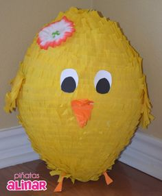 Fun chick piñata for Easter them party, farm party or any kids party.
