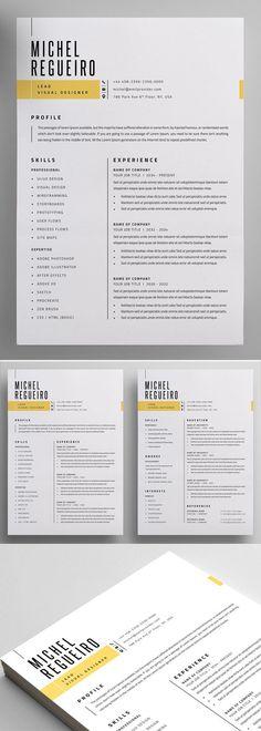 Resume Template/CV Template + Cover Letter for Word Simple Resume Template, Resume Design Template, Creative Resume Templates, Free Cv Template, Modern Cv Template, Website Template, Graphic Design Blog, Web Design, Creative Resume Design