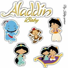 Aladdin Cake, Aladdin Party, Toy Story Cake Toppers, Toy Story Cakes, Jasmine Cake, Aladdin And Jasmine, Ballerina Birthday, Aesthetic Stickers, Baby Party