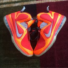 factory authentic 80fe9 240d9 Nike Shoes   Nike Galaxy Lebron 9 Size 10   Color  Orange   Size