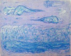 1993년 구름,바다,하늘 162.2x130.3 (cm)