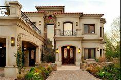 Faca de more luxus villa, house colors, roof colors, classic house exterior Spanish Style Homes, Spanish House, Spanish 1, Spanish Colonial, Dream Home Design, Modern House Design, Fachada Colonial, Villa Plan, Mediterranean Architecture