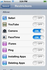 iTouch/iPhone Security for kids and Teens