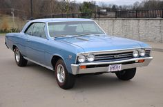 1967 Cheverolet Chevelle SS 396 4 speed in Marina Blue