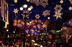 The lights of the past few years seem to have moved away from traditional Christmas street decorations such as these