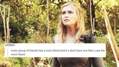 pretty accurate really. Clarke is a Mama bear that should be feared when you go after one of her kids. And when you go after Papa bear? No body, no proof. Movies Showing, Movies And Tv Shows, 100 Memes, The 100 Show, The 100 Clexa, Eliza Taylor, Bellarke, The Hundreds, Friends Mom