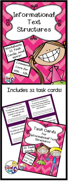 This 60 page complete packet is filled with task cards, graphic organizers, worksheets, posters, doubled sided practice passages, writing activities, foldables, a flip book and more! Engaging! (TpT Resource)