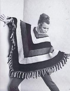 VINTAGE KNITTING CROCHET PATTERNS 1970s STOLE PONCHO SKIRT VEST DRESS JACK FROST | eBay