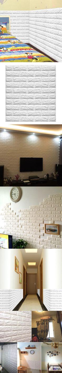 60x60cm PE Foam Natural Wall Stickers Patterns 3D Wallpaper DIY Wall Decor Brick For Living Room Kids Bedroom adesivo de parede
