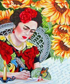 Frida Kahlo Frida Kahlo Painting Frida by kMadisonMooreFineArt