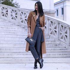 Konstantina Tzagaraki - Jumpsuit, Marni Purse, Maxmara Coat, Chanel Brooch - Love doesn't have to feel good in order to exist..